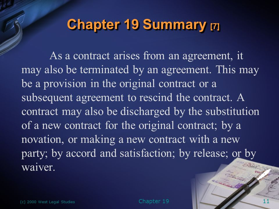 Chapter 19 Discharge Of Contracts Ppt Download